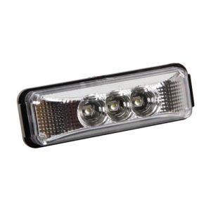 Lampa Φως Φορτηγού 24V 3LED Λευκό 103x35mm