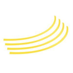 "Lampa Διακοσμητικά Αυτοκόλλητα Ζάντας Πλαστικά - Κίτρινα 17''-18''-19'' -20"""