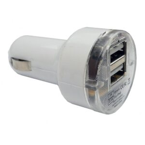 CarCommerce ΑΝΤΑΠΤΟΡΑΣ ΑΝΑΠΤΗΡΑ ΜΕ 2 ΘΥΡΕΣ USB ΛΕΥΚΟ ΧΡΩΜΑ 3100 mA 12/24 V