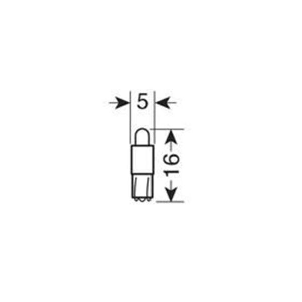 6d 1 LED COCKPIT ΛΕΥΚΟ (ΚΑΡΦΩΤΟ ΑΚΑΛΥΚΟ ΓΙΑ ΟΡΓΑΝΑ ΤΑΜΠΛΟ) BLISTER - 5 ΤΕΜ.