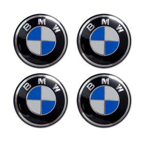Americat BMW ΚΟΥΜΠΩΤΕΣ ΤΑΠΕΣ ΚΕΝΤΡΟΥ ΖΑΝΤΑΣ ΜΑΥΡΟ/ΜΠΛΕ/ΧΡΩΜΙΟ (ΕΣΩΤΕΡ. 65 mm & ΕΞΩΤΕΡ. 69 mm) - 4 ΤΕΜ.