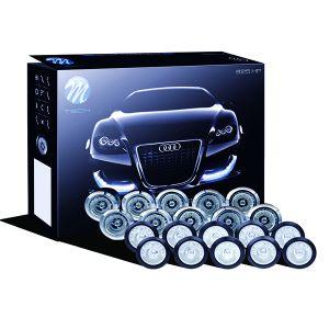 M-Tech DAYLINE ΠΡΟΣΘΕΤΟ ΔΙΕΘΝΗ ΜΕ 20 ΞΕΧΩΡΙΣΤΑ LED HP 1WX20 12V Φ20mm ΜΑΥΡΑ