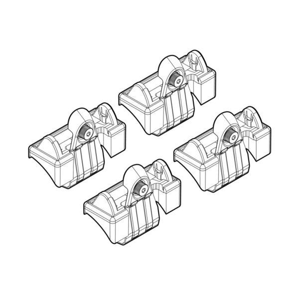 Nordrive VW POLO 3D/5D 11/01>08/09 KIT ΑΚΡΑ (ΠΟΔΙΑ) ΓΙΑ ΜΠΑΡΕΣ NORDRIVE