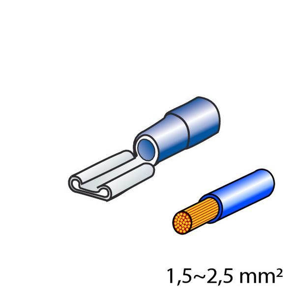 Lampa ΦΙΣΑΚΙΑ 6.3 x 0.8mm (10τμχ)