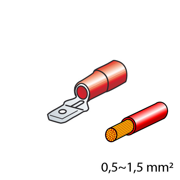 Lampa ΦΙΣΑΚΙΑ 6.3 x 0.8mm (10τμχ.)