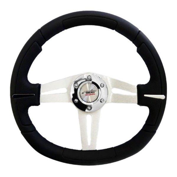 Simoni Racing ΤΙΜΟΝΙ APOGEE - ΜΑΥΡΟ ΛΕΙΟ ΔΕΡΜΑ 350mm