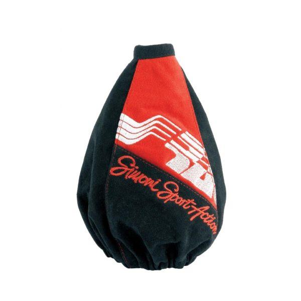 Simoni Racing ΦΟΥΣΚΑ ΤΑΧΥΤΗΤΩΝ CUT RED 185 X 185 X 120 mm - ΥΨΟΣ 225mm (ΜΑΥΡΟ/ΚΟΚΚΙΝΟ MICROFIBER)