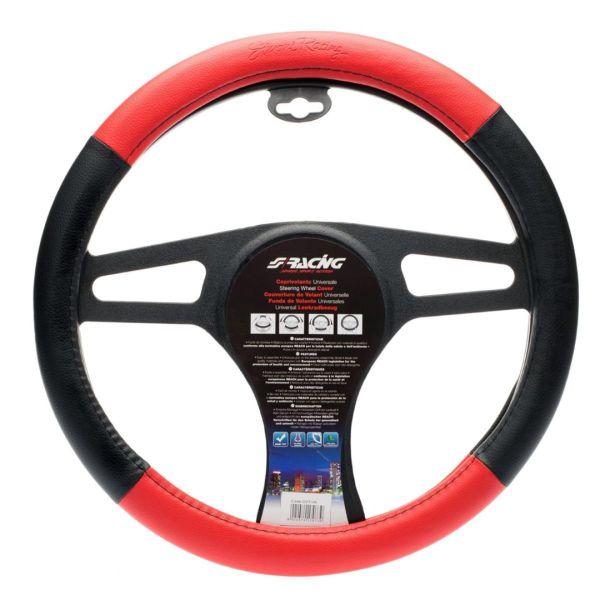 Simoni Racing ΚΑΛΥΜΜΑ ΤΙΜΟΝΙΟΥ TROPHY 1 37-39 cm (ΜΑΥΡΟ/ΚΟΚΚΙΝΟ ΔΕΡΜΑΤΙΝΗ)