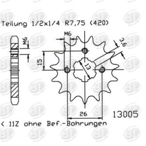 ΓΡΑΝΑΖΙΑ ΚΙΝ E13005-13(563) YMH 50 RD FS 1   ESJOT - (ΓΕΡ) - Mixeshop.gr