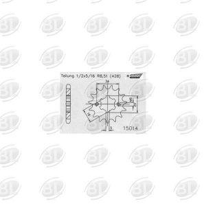 ΓΡΑΝΑΖΙΑ ΚΙΝ E15014-16(264) HND CB125        ESJOT - (ΓΕΡ) - Mixeshop.gr