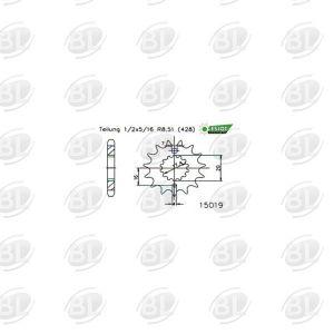 ΓΡΑΝΑΖΙΑ ΚΙΝ E15019-13(558) YMH 125 TZR      ESJOT - (ΓΕΡ) - Mixeshop.gr