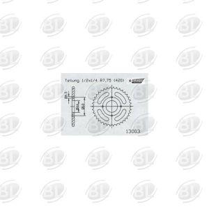 ΓΡΑΝΑΖΙΑ ΡΟΔ E13003-52(832) YMH 50 DTR       ESJOT - (ΓΕΡ) - Mixeshop.gr
