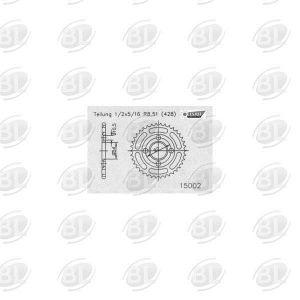 ΓΡΑΝΑΖΙΑ ΡΟΔ E15002-49(835) YMH SR 125       ESJOT - (ΓΕΡ) - Mixeshop.gr