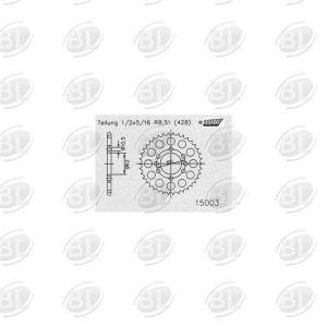 ΓΡΑΝΑΖΙΑ ΡΟΔ E15003-53(843) YMH 125 XT       ESJOT - (ΓΕΡ) - Mixeshop.gr