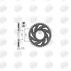 ΓΡΑΝΑΖΙΑ ΡΟΔ S1456-47(215)                SUNSTAR - (ΙΑΠ) - Mixeshop.gr
